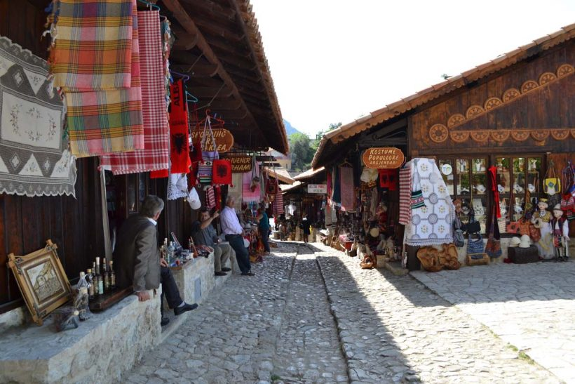 view from the bazaar of Kruja