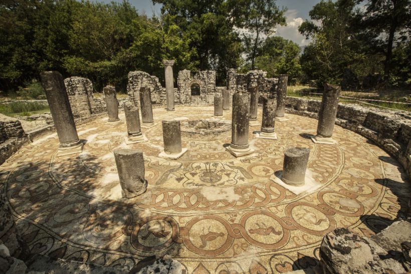 Baptistery butrint saranda tours