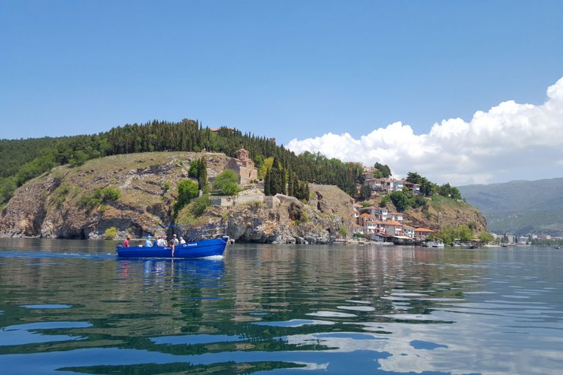 boat trip in ohrid lake