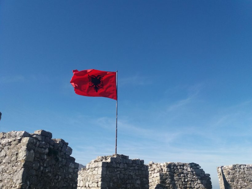 Rozafa castle flag