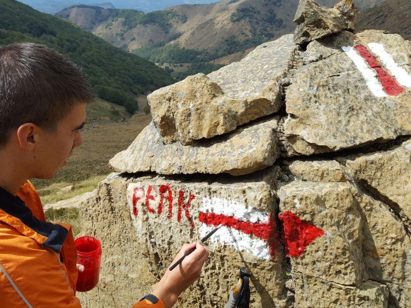marking mountains hiking