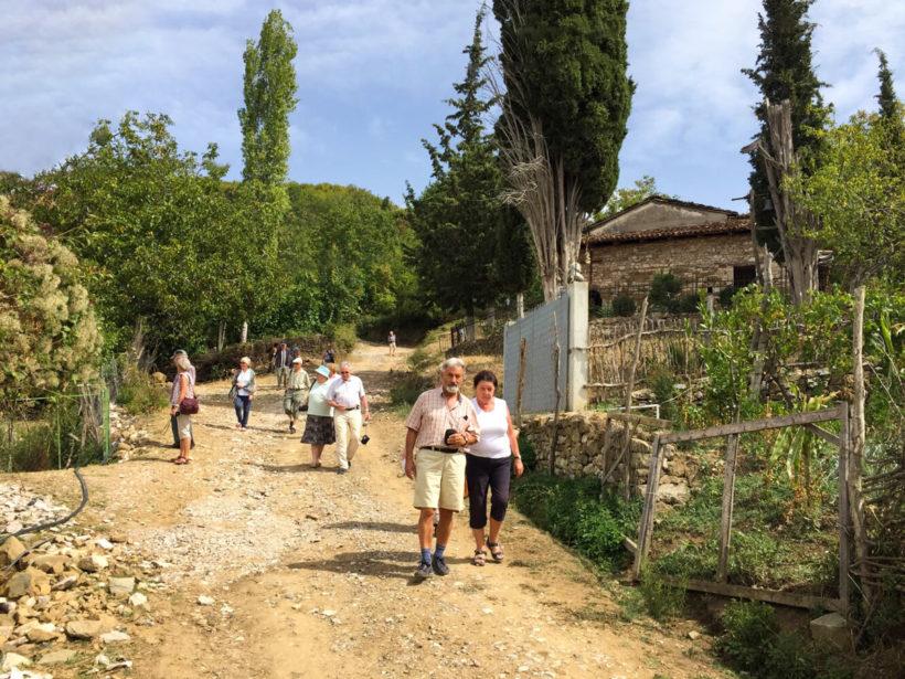 people walking egnatia street
