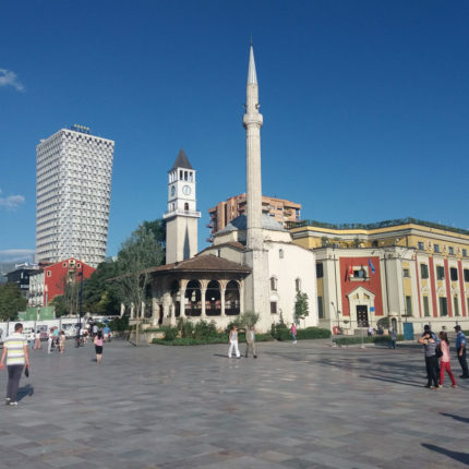 mosque tirana square