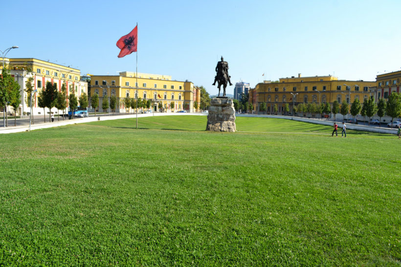 Tirana center scanderbeg square