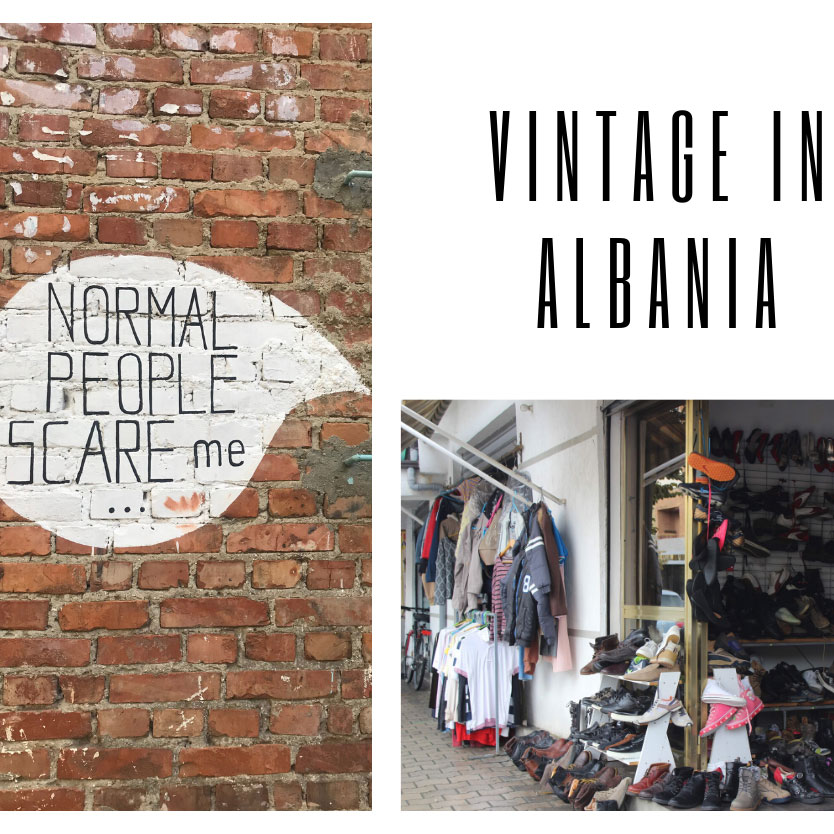vintage in albania collage photo